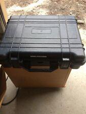 Hard plastic gun camera computer jewelry case sales samples 19x15x6 W/ Strap