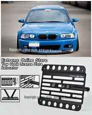 EOS For 01-06 E46 M3 Front Bumper Tow Hook Mount Adaptor License Plate Bracket
