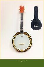 Caraya 64cm Banjo Ukulele 118 Concert Size Flame Maple Resonator Gig Bag