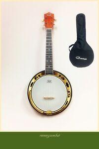4 String Banjo Ukulele Concert Size  Maple Resonator W Gig Bag Caraya SBJUK-118