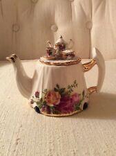 Vintage Royal Albert Old Country Roses Miniature Tea Pot -Afternoon Tea