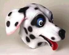 Dog Mask Black & White Dalmatian Full Over The Head Latex Mask