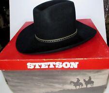 Stetson Hat Mens Beaver XXXX 6 7 8 Black Vintage Western Rockabilly Steer   B1 5b3f5ec7e6b8