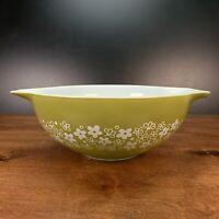 Vintage PYREX Spring Blossom Crazy Daisy Cinderella 4 QT 444 Mixing Bowl