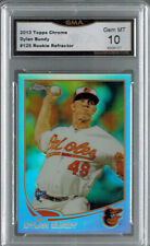 2013 13 DYLAN BUNDY TOPPS CHROME REFRACTOR ROOKIE #125 GEM MT 10
