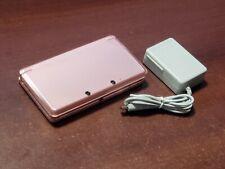 Nintendo 3DS Metallic Pink Handheld Console Japan import system US seller