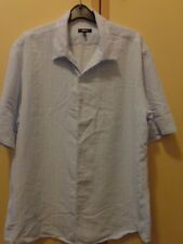 NEXT MENS CASUAL SHORT SLEEVED SOFT FEEL PALE BLUE CHECKED SHIRT SIZE XL