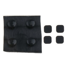 8 Pieces Replacement Rubber Feet Screw Cover for Nintendo 3DS LL XL - Black