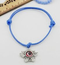 Free 10/100pcs Hamsa String Evil Eye Lucky Red wax Cord Adjustable Bracelet NEW