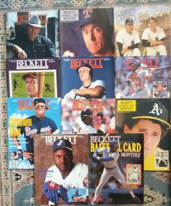 Lot of 11 Beckett Baseball Monthly (1990s): Ryan, Ripken, Chipper, Bonds, Ruth