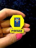 OLYMPIC GAMES GRENOBLE 1968.OFFICIAL PRESS BADGE PIN