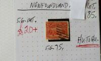 NEWFOUNDLAND 15C 1897  SEALS STAMP F/U.- G/U