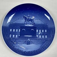 "B&G BING & GRONDAHL 1970 Christmas Jubilee Plate ""Amalienborg The Royal Palace"""