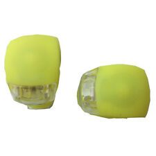 2PCS Yellow Warning Front / Rear Lights For Cycling Bicycle shining in night