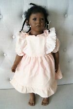 """Annette Himstedt Sanga Doll Beautiful African American Girl Child Doll 21"""" Tall"""