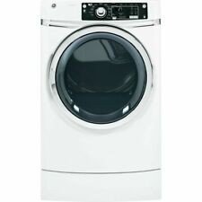 """Ge Gfdr270Ghww 28"""" RightHeight Design Series Gas Dryer in White"""