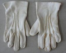 Vintage Little Girl Toddler White Dressy Gloves L#81