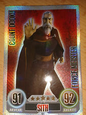 Force Attax Star Wars Serie 1 Force Meister Nr.185 Count Dooku Sammelkarte