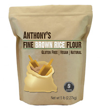 Brown Rice Flour (5 Pounds) by Anthony's, Certified Gluten-Free (5lbs)