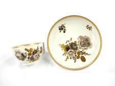 alte Tasse + Unterschale - Meissen - Marcolini 1774-1814 - florales Graucamaieu
