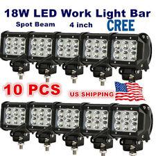 10x 4inch 18W CREE LED WORK LIGHT BAR SPOT BEAM CUBE LIGHT OFFROAD ATV ROOF LAMP