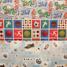 3 Sheets Childrens Football Wrapping Paper Sheets Gift Wrap For Boy Male