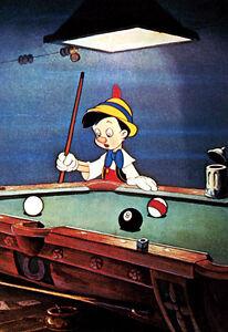 Pinocchio Poster, Billiards, Shooting Pool
