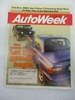 AUTO WEEK MAGAZINE OCTOBER 16, 1995 BMW 5-SERIES RANGE ROVER 4.6 HSE SUZUKI X90