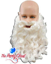 """10"""" DELUXE SANTA BEARD AND MOUSTACHE Father Christmas Costume Ivory Beard MB081"""
