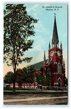 St. Joseph's Church Malone NY Franklin Co. Postcard C.T. Photochrom B5