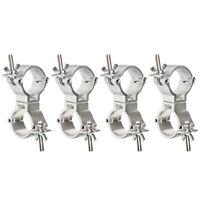 4x DJ Light Swivel Clamps Lighting Truss Coupler Aluminum Alloy 1.88-2 Inch Pipe