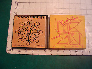vintage puzzle: PINWHEEL:27 a mathmatic puzzler, in box, ARE-JAY game co