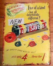 Life Savers, Metal / Tin, Sign / Plaque, Advertising, New