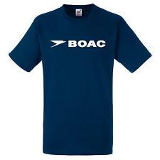Retro BOAC Airlines Mens Tshirt,Classic 1970's Retro Pan Am TShirt S-XXXL Navy