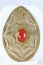 Pendant Carnelian Israel Large Filigree Sterling Pin
