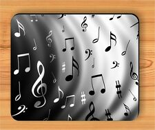 MUSIC BLACK AND WHITE NOTES MOUSE PAD -pa43wa