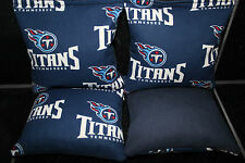 4 Cornhole Beanbags made w Tennessee Titans Fabric Aca Reg Bags, Top Quality!