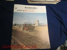 SPERRY NEW HOLLAND 213 328 512 518 S676 790 BOX MANURE SPREADER SALES BROCHURE