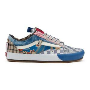 Vans Patchwork Old Skool Cap Sneakers Shoes Blue VN0A4UUH2TC1 Sz 4-13