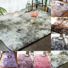 Fluffy Rugs Anti-Skid Shaggy Area Rug Carpet Dining Room Home Bedroom Floor Mat
