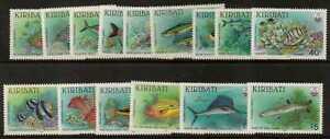 KIRIBATI SG326/40 1990 FISH MNH