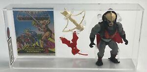 MOTU He-Man Vintage Loose Hordak w Comic Series 4 Malaysia 1985 AFA UKG 80%