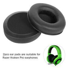 2Pcs Replace Ear Pads Soft Cushions Leather for Razer Kraken Pro Headphones