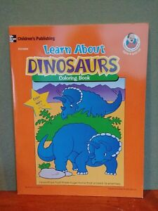 ewLearn about Dinosaurs coloring book