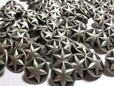 METAL GEOMETRIC STAR WITH RHINESTONE CENTRE DOMED SHANK BUTTONS 10mm 16L