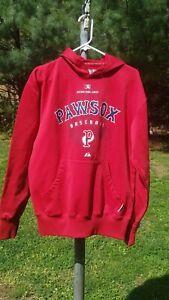 Pawtucket Red Sox Minor League  Baseball Hoodie - Mens Medium - Majestic