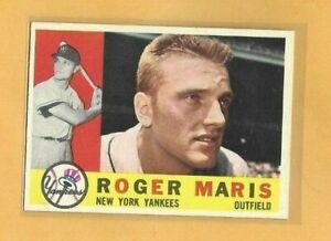 1960 TOPPS #377 ROGER MARIS NM+ DECENT CENTERING CHEAP! 60BK