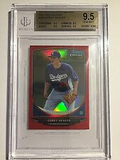 2013 Bowman Chrome Mini Red Refractor #290 Corey Seager #06/10  BGS GEM MINT 9.5
