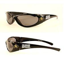 Colorado Buffaloes CU Wrap Black Sunglasses Gold Logo and Buff Graphics
