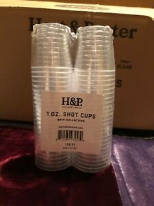 HEAVYWEIGHT 1 oz Shot Cups Disposable Clear Plastic Glasses Bomber Shooter Wine